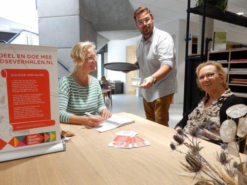 Opening eerste Goudse Verhalen punt in Van Noord