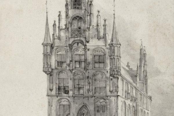 Stadhuis van Gouda door Roelant Roghman 1646 Rijksmuseum Amsterdam RP T 1891 A 2417 mtime20190710160053focalnone